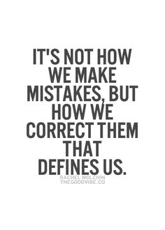 Making Mistakes Quote.